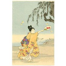 豊原周延: Firefly Hunting - Ladies at Chiyoda Palace - Artelino