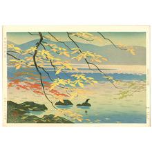 Okumura Koichi: Autumn Colors at Lake Towada - Artelino
