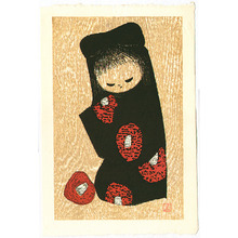 Kawano Kaoru: Girl and Red Camellia. - Artelino