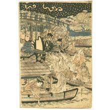 Kitagawa Utamaro: Fireworks at Ryogoku - Artelino