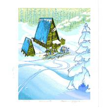 Morozumi Osamu: Lodge in Forest (Morning) - Artelino
