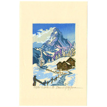 Morozumi Osamu: Matterhorn in Winter - Switzerland - Artelino