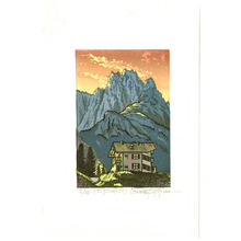Morozumi Osamu: A Lodge on the Dolomites - Italy - Artelino