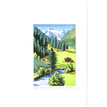 Morozumi Osamu: A Valley in Tyrol I - Austria - Artelino