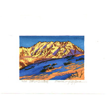 Morozumi Osamu: Tateyama Mountain Range in Evening Sun - Japan - Artelino