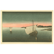 無款: Two Boats in the Sunset - Artelino
