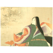 水野年方: Empress in Jakko-in Temple - Artelino