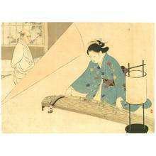 水野年方: Samurai and Koto Player - Artelino