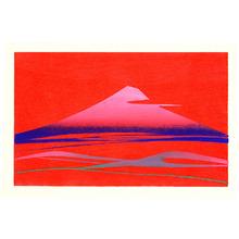 Inagaki Toshijiro: Red Mt. Fuji - Artelino