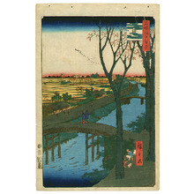 Utagawa Hiroshige: Koume Embankment - 100 Famous Views of Edo - Artelino