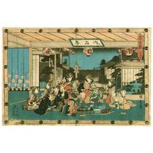歌川広重: Tea House Act.7 - Chushingura - Artelino