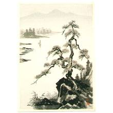 Imoto Tekiho: Pine on the Rock and River - Artelino