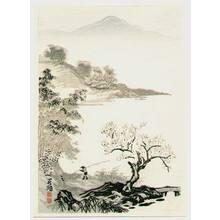 Imoto Tekiho: Bamboo, Apricot and a Fisherman - Artelino