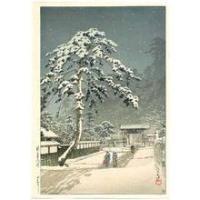 Kawase Hasui: Honmon Temple at Ikegami - Artelino