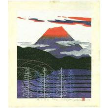小野忠重: Mt. Fuji in Red Glow - Artelino