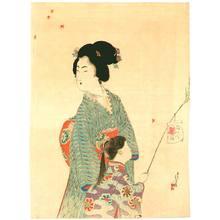 水野年方: Mother and Daughter back from a Festival - Artelino