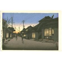 Tsuchiya Koitsu: Evening Glow at Choshi - Artelino