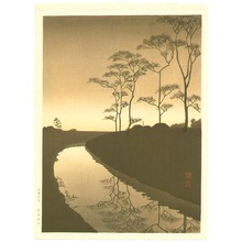 古峰: Canal under the Moonlight - sepia version - Artelino