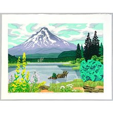 Kitaoka Fumio: Mt. Hood with Trillium Lake - Artelino