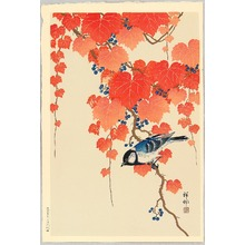 Ohara Koson: Bird and Red Ivy - Artelino