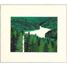 Omoto Yasushi: Twenty-one Views of Ezo - Green Lenke Lake - Artelino