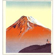 Tokuriki Tomikichiro: Red Mt. Fuji - Artelino