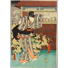 Utagawa Kunisada: In front of Flowers - Kabuki - Artelino