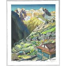 両角修: Village in the Himalayan Mountains - Nepal - Artelino