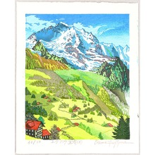 Morozumi Osamu: View of Mt. Jungfrau - Switzerland - Artelino