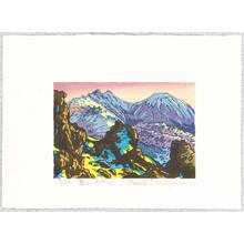 両角修: Mt. Tengu in the Sunset - Japan - Artelino