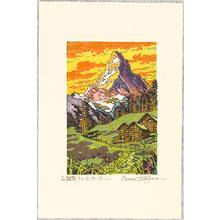 Morozumi Osamu: Matterhorn - The Glow at Sunrise - Switzerland - Artelino