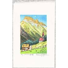 Morozumi Osamu: Rocky Peak of the Dolomites - Italy - Artelino