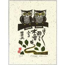 Kozaki Kan: A Couple of Owls - Artelino