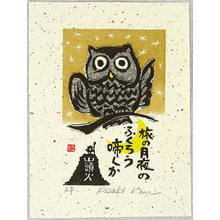 Kozaki Kan: Owl in the Moonlight Night - Artelino