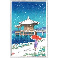 Fujishima Takeji: Ukimi-do in Snow - Artelino