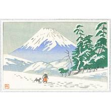 Fujishima Takeji: Mt. Fuji and Traveller - Artelino