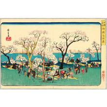 Utagawa Hiroshige: Gotenyama Park - Edo Meisho - Artelino