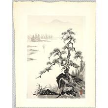 Imoto Tekiho: Pine Tree at Lake Side - Artelino