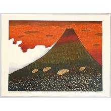 Hagiwara Hideo: Red Fuji - Thirty-six Mt. Fuji - Artelino