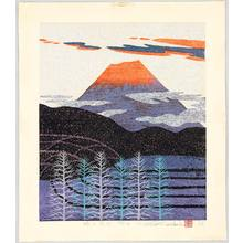 Ono Tadashige: Mt. Fuji in Red Glow - Artelino