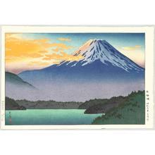 Tsuchiya Koitsu: Mount Fuji and Lake Motosu - Artelino