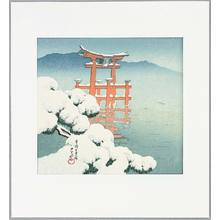 川瀬巴水: Snow Scene at Miyajima - Twelve Famous Sceneries - Artelino