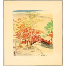 徳力富吉郎: Autumn in Mt. Takao - 15 Views of Kyoto - Artelino