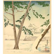 Tokuriki Tomikichiro: Snowy Scene at Nijo Castle - 15 Views of Kyoto - Artelino