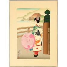 Hasegawa Sadanobu III: Maiko and Kiyomizu Temple - Artelino