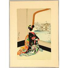 代長谷川貞信〈3〉: Maiko and Golden Pavilion - Artelino