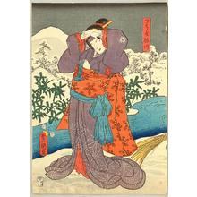 Utagawa Kunisada: Man with Rosary on his Ear - Artelino