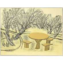 Maekawa Senpan: Plum Trees and Table - Artelino