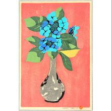 Yoshida Hiroshi: Hydrangea in Vase - Artelino