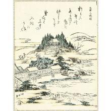 葛飾北斎: Evening Bell of Mii Temple - Artelino